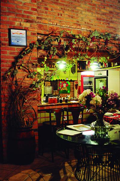 Cantina oferece um local aconchegante, longe da correria da cidade (Crédito: Luciana Bohn)