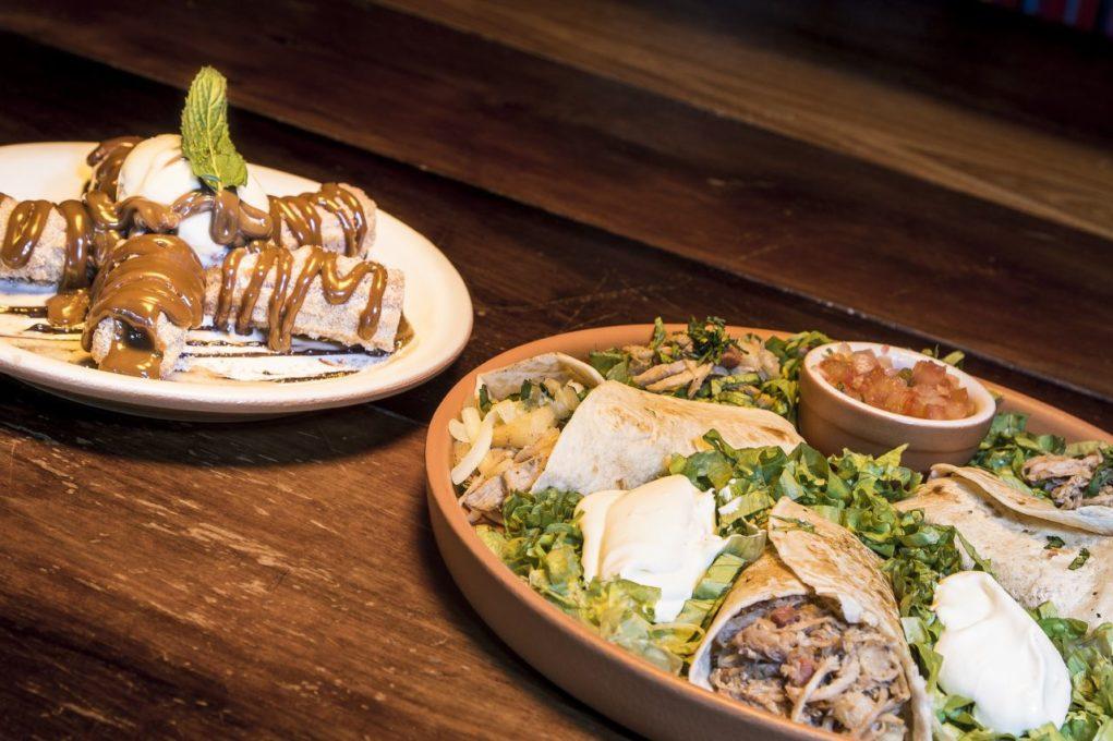 Burrito Al Pastor e Mini Churtros del Chavo, do  Guacamole Cocina Mexicana (Foto: Divulgação)