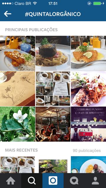 Fotos postadas por clientes no Instagram usando #quintalorgânico