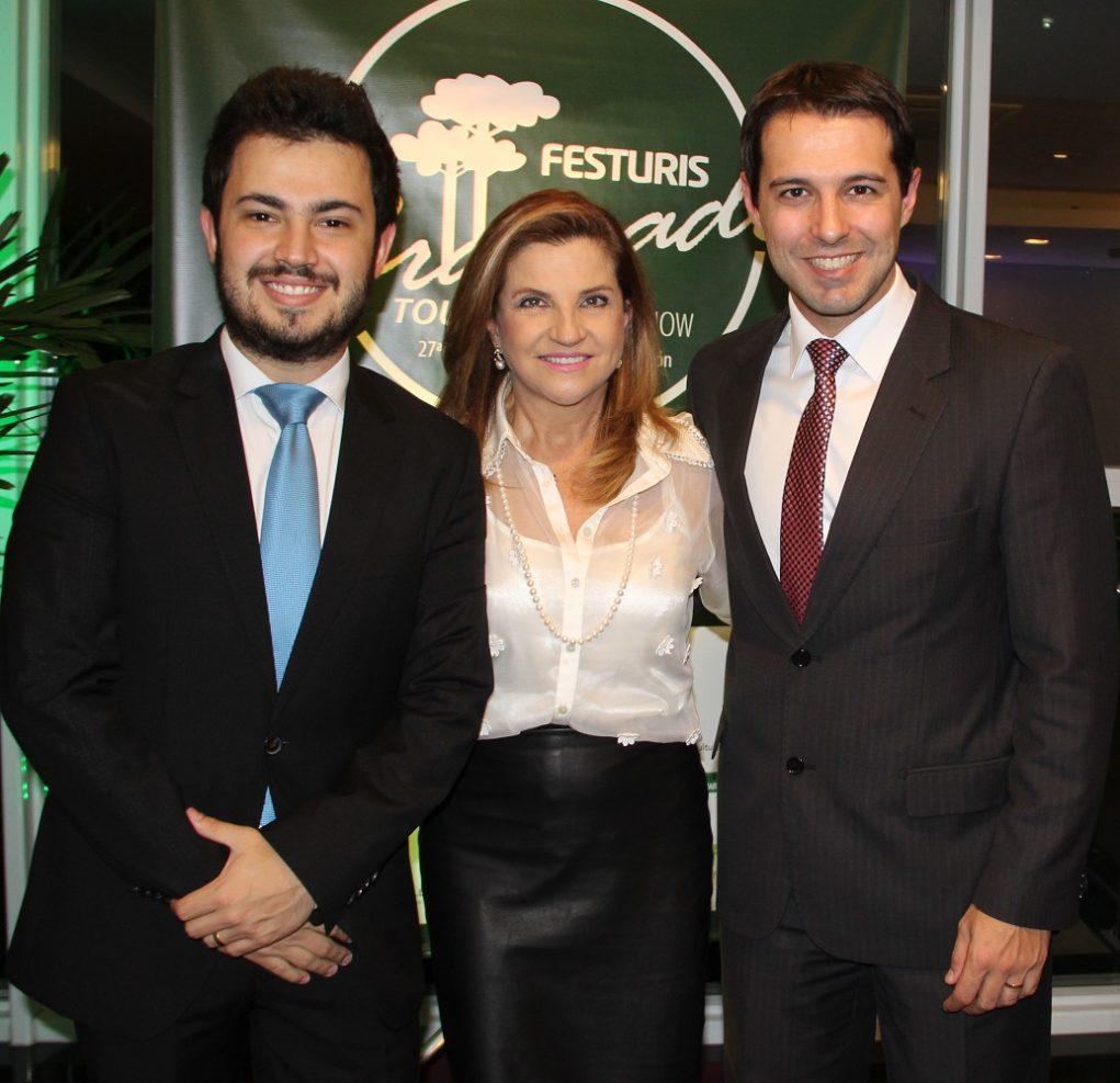 Diretores do Festuris Marcus Rossi, Marta Rossi e Eduardo Zorzanello
