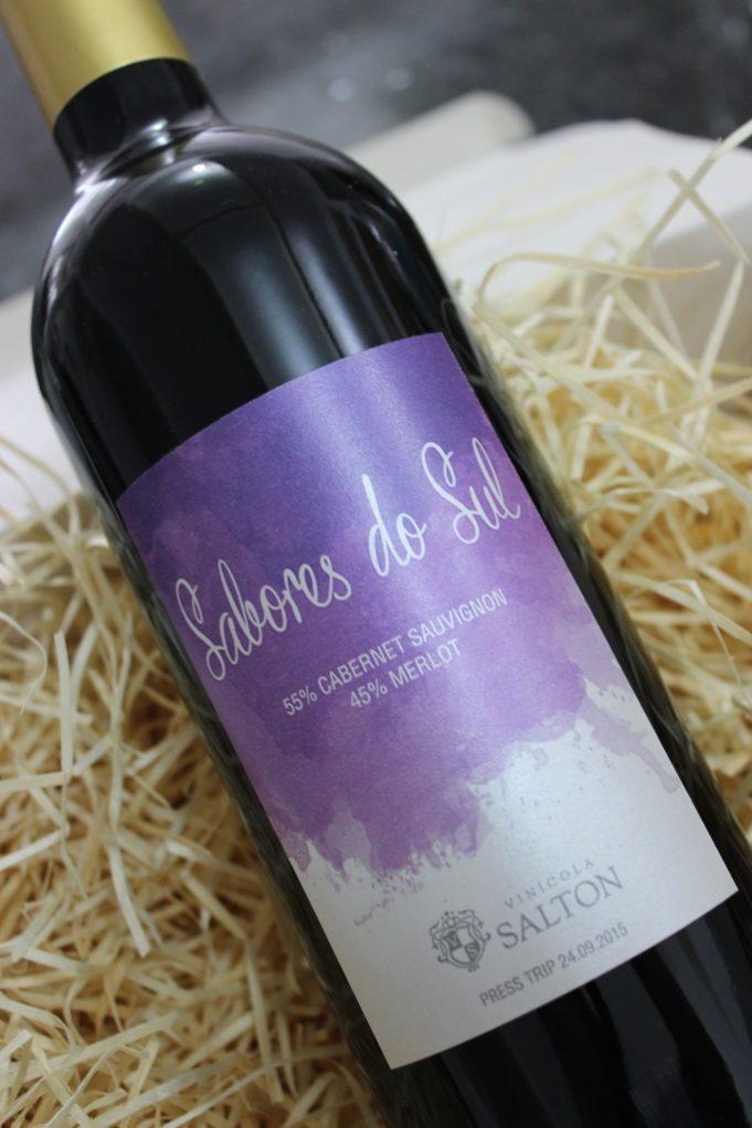 Nosso vinho ganhou rótulo personalizado. Foto: Igor Amaral