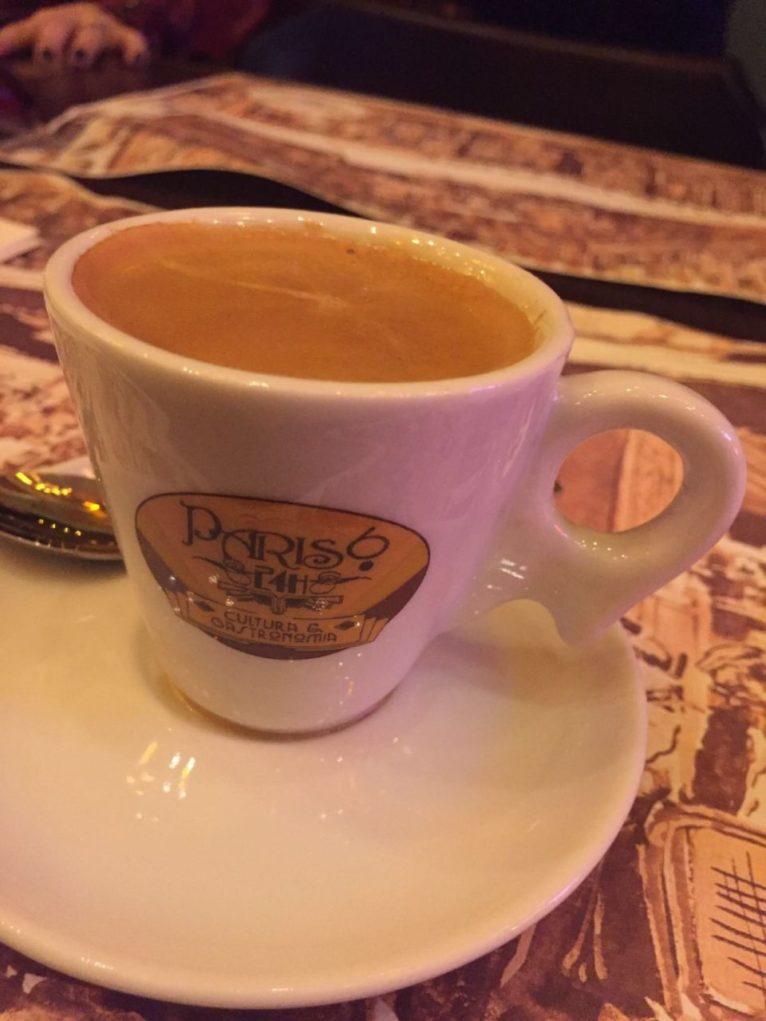 Para fechar, um espresso. (Foto: sabina Fuhr)