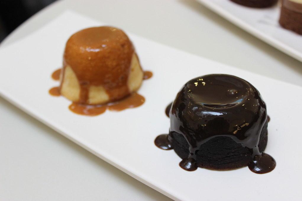 Petit Gateau em duas versões: chocolate e doce de leite. Foto: Igor Amaral