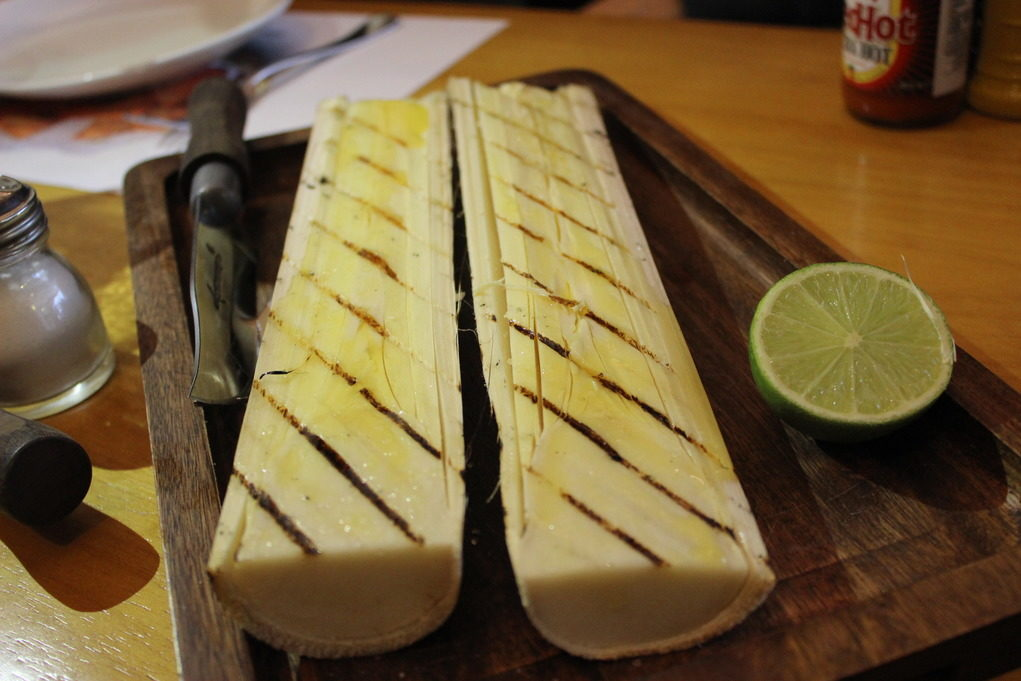 O Palmito assado é um dos pratos mais pedido do Madero. Foto: Igor Amaral