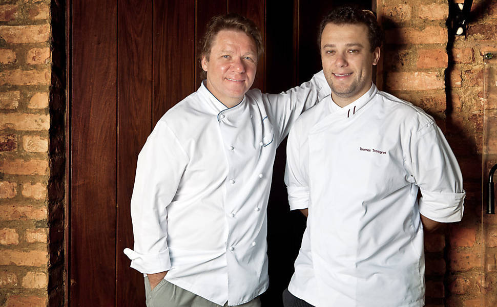 Chefs Claude e Thomas Troisgros, do Olympe. (Foto: Tomás Rangel)