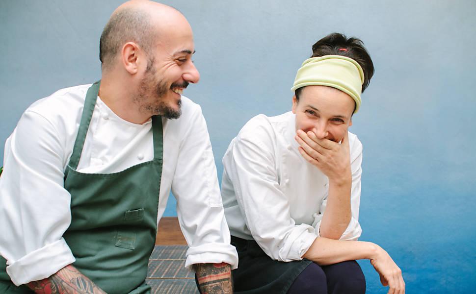 chefs Daniel Redondo e Helena Rizzo, do Maní (Foto: Roberto Seba)