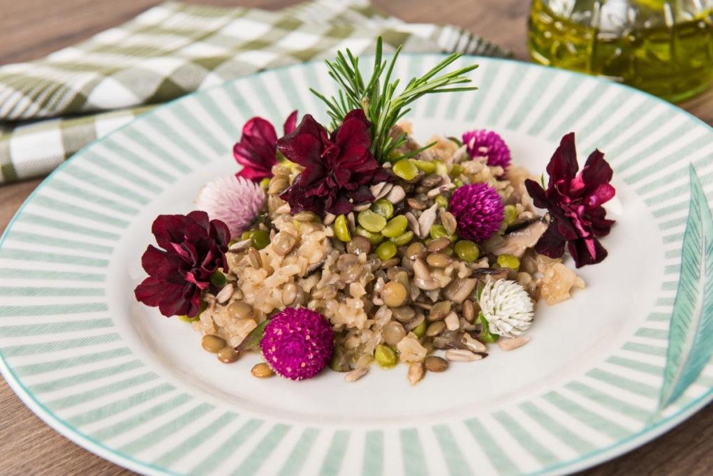 risoto integral vegetariano