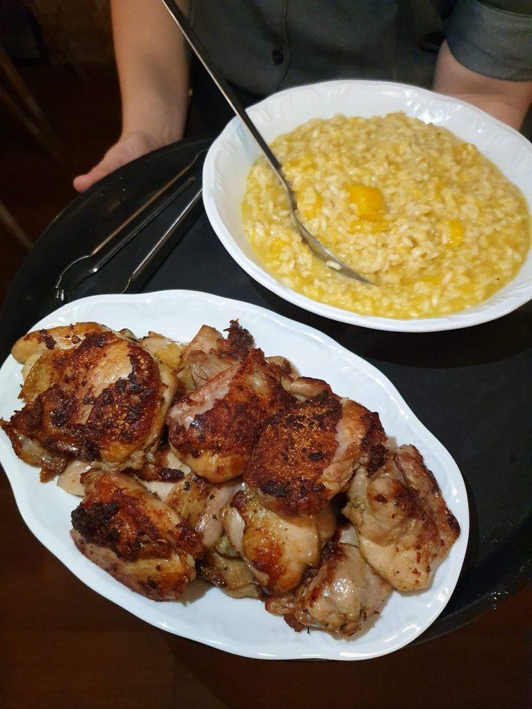 risoto e frango