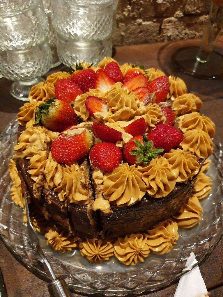 torta com morango