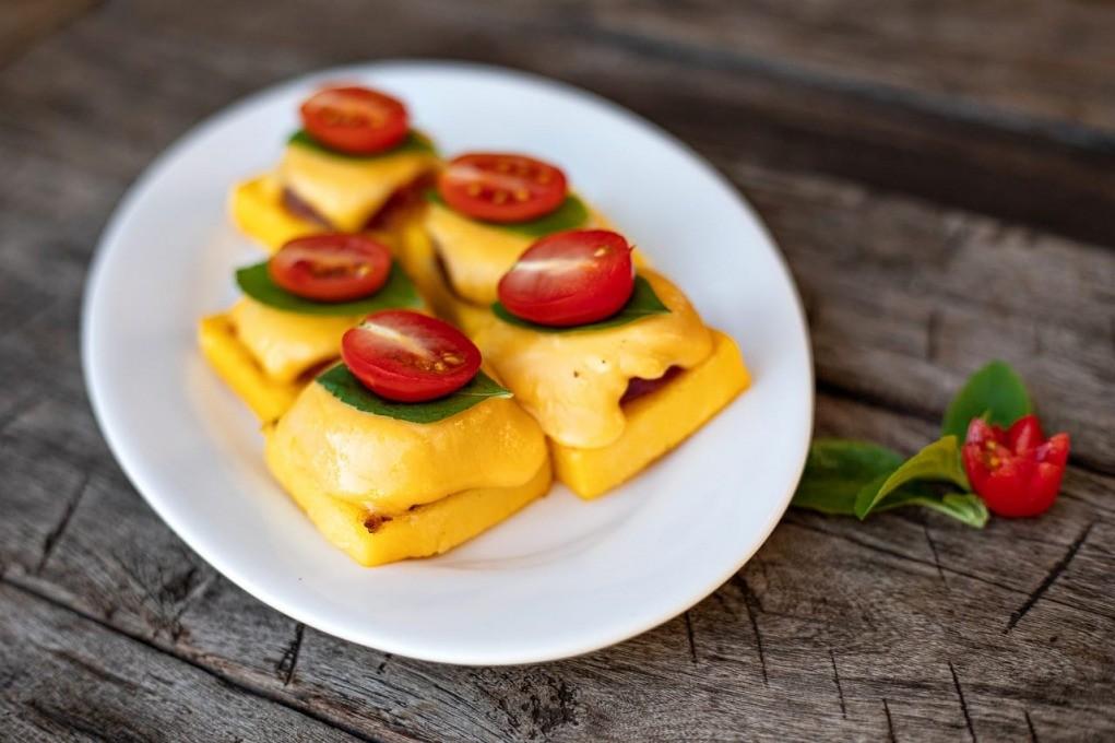 polenta com queijo