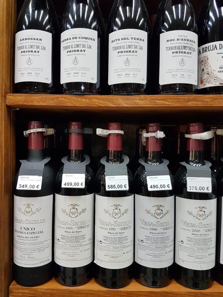 garrafas de vega sicilia