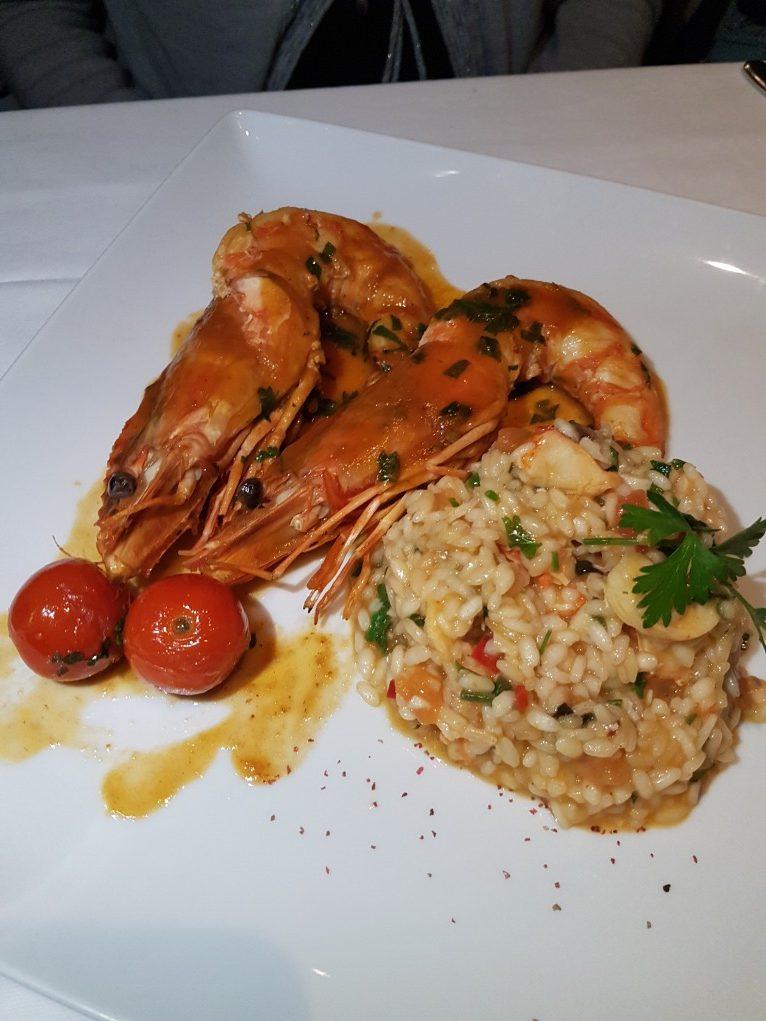 lagosta com risoto