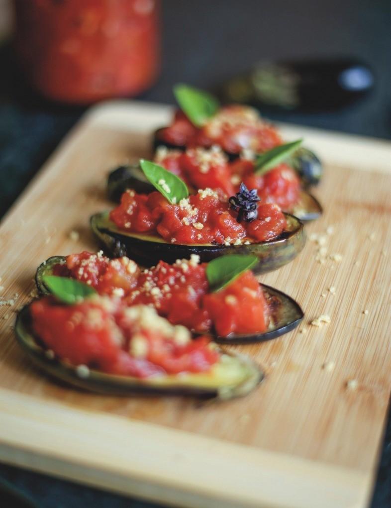 berinjela com tomate