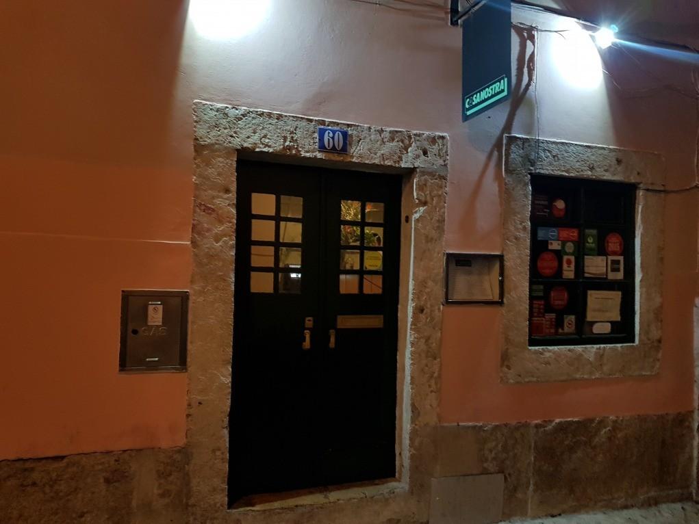 fachada restaurante Casanostra Lisboa
