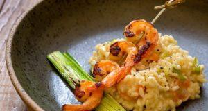 risoto e camarão