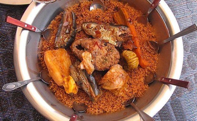 prato típico do senegal